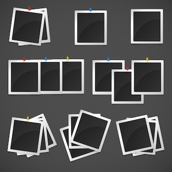 Blanco polaroid frames