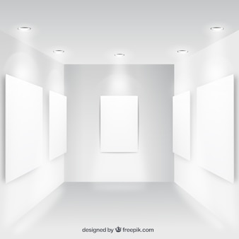 Blanco posters collectie aan de muur