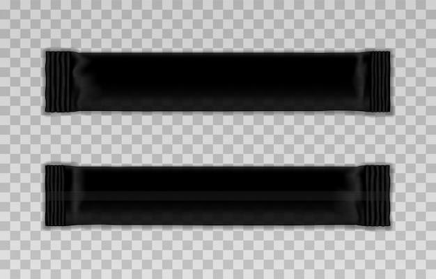 Blanco sjabloon van zwarte verpakkingsstok