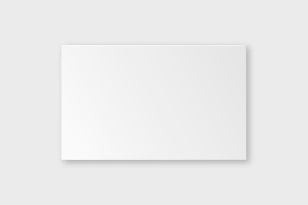 Blanco visitekaartje mockup vector in witte toon