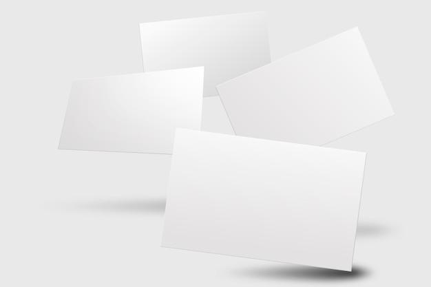 Blanco visitekaartjemodel in witte toon met voor- en achteraanzicht