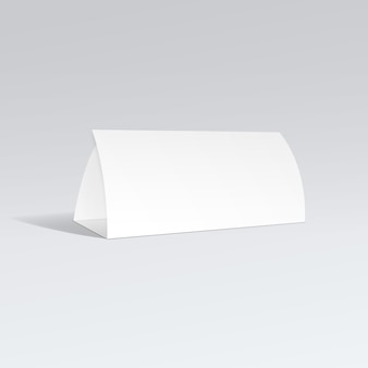 Blanco wit papier driebladige brochure folder zigzag gevouwen flyer