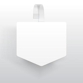 Blank wobbler met transparante strip
