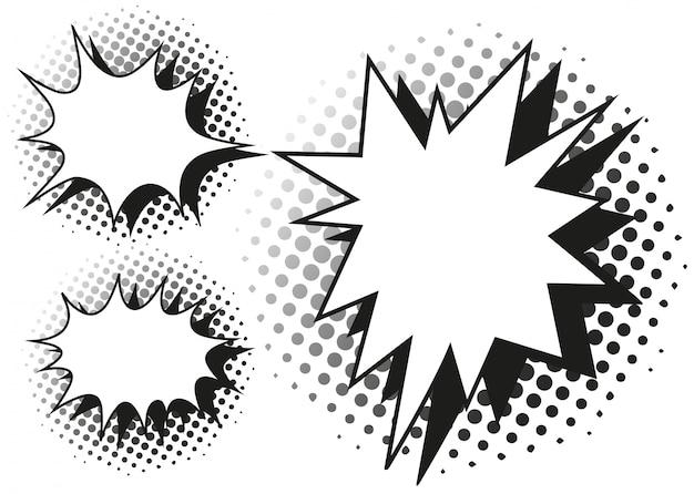 Blash splash-sjabloon in drie ontwerpen