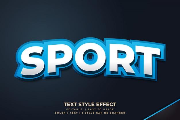 Blauw 3d vetgedrukt tekststijleffect voor e-sportteam