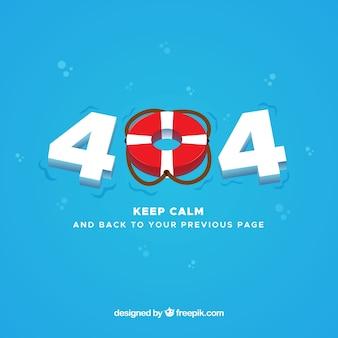 Blauw 404-foutenontwerp