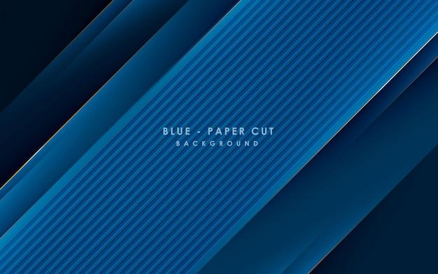 Blauw abstract backgrund vector, modern bedrijfsconcept met gouden lijneffect.