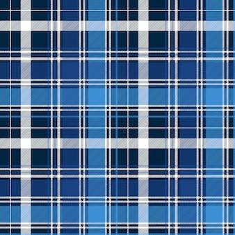 Blauw abstract controle textiel naadloos patroon