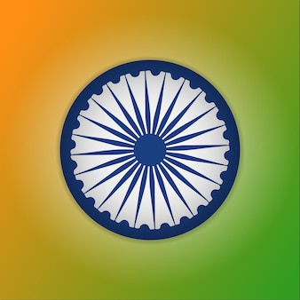 Blauw ashoka-wiel. chakra. 15 augustus. vector illustratie. indiase symbool. onafhankelijkheidsdag. nationaal symbool.