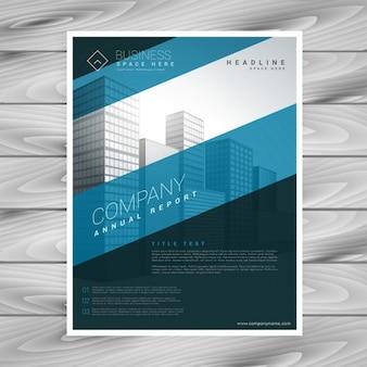 Blauw bedrijf flyer template