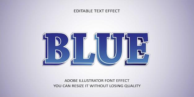 Blauw bewerkbaar teksteffect