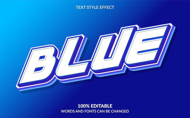 Blauw bewerkbare teksteffectstijl