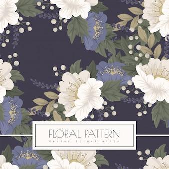 Blauw bloem naadloos patroon