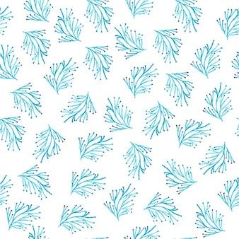 Blauw boom patroon ontwerp