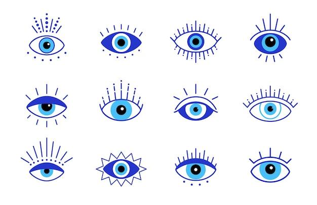 Blauw boze oog