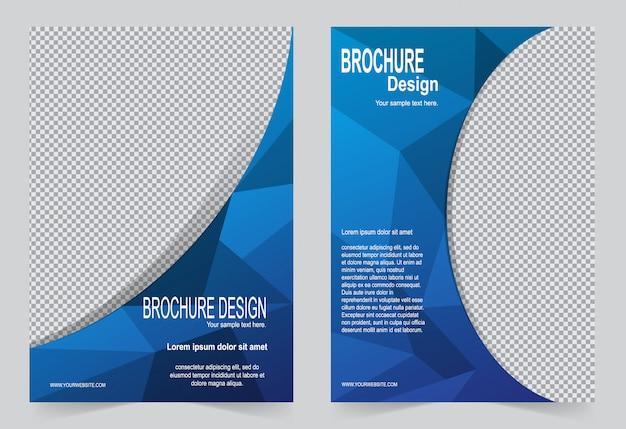 Blauw brochure sjabloon flyer ontwerp