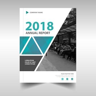 Blauw creatief jaarverslag boekomslag sjabloon