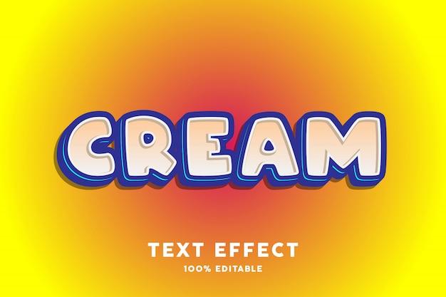 Blauw crème teksteffect