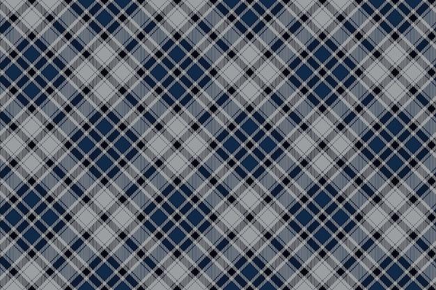 Blauw diagonaal geruit naadloos stoffenpatroon