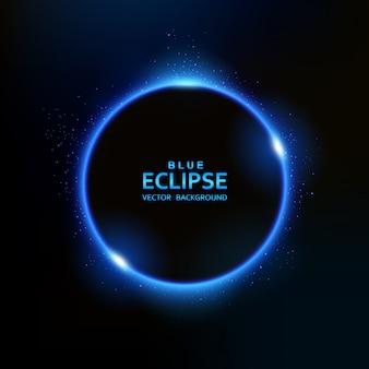 Blauw eclipslicht met fonkelingen