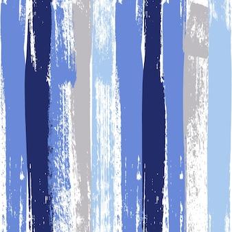 Blauw en grijs pastelkleur penseelstreek naadloos patroon