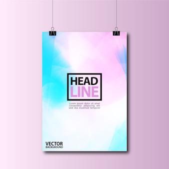 Blauw en paars hangend poster achtergrond ontwerp