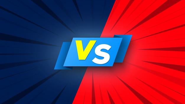 Blauw en rood gestreept versus symbool.