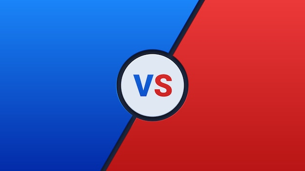 Blauw en rood versus achtergrond