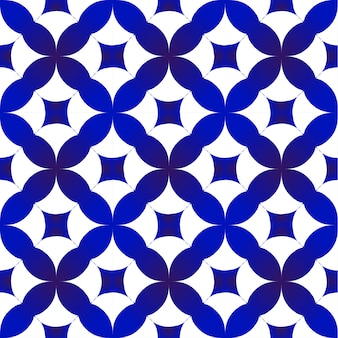 Blauw en wit indigo patroon
