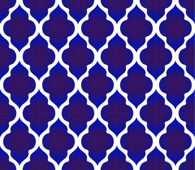 Blauw en wit islamitische patroon