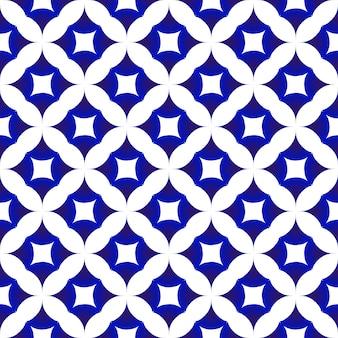 Blauw en wit keramisch patroon