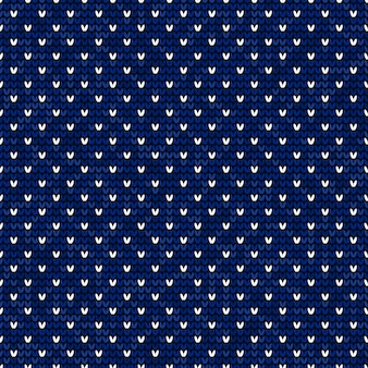 Blauw en wit naadloos patroon breien