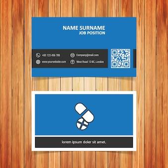 Blauw en zwart pillen visitekaartje