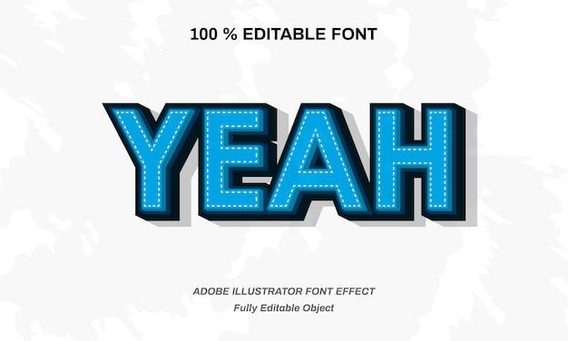 Blauw extruderen lettertype-effect