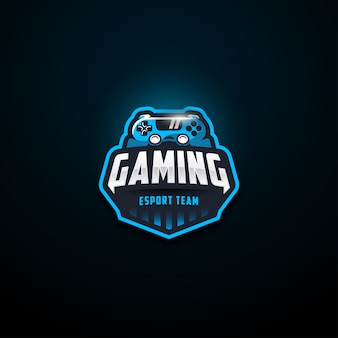 Blauw gaming e sport team logo