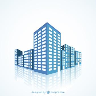 Blauw gebouwen