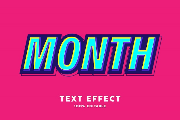 Blauw geel pop-art tekststijleffect