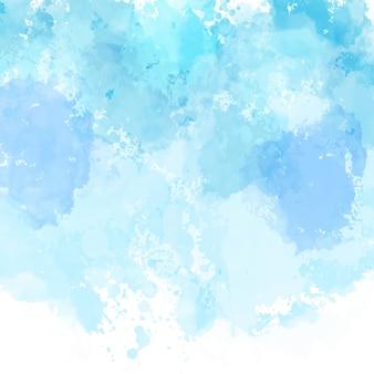 Blauw geschilderde achtergrond met een gedetailleerde aquarel textuur