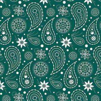 Blauw getekend paisley patroon