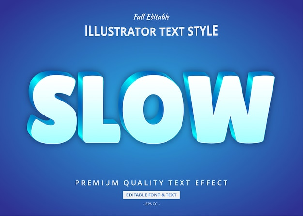 Blauw glans 3d-tekststijleffect
