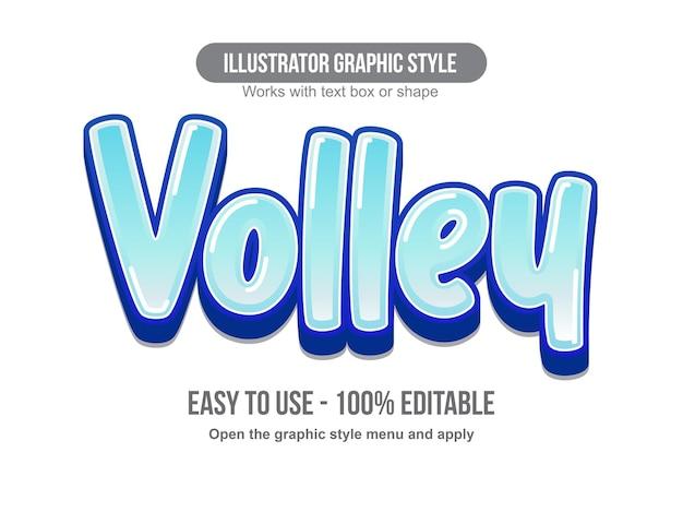 Blauw glanzend 3d-cartoon teksteffect
