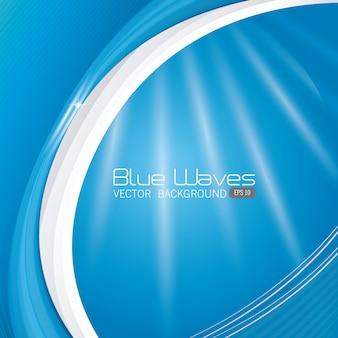 Blauw golvenontwerp.