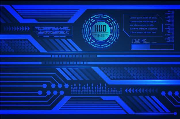 Blauw hud cyber circuit toekomst technologie concept achtergrond