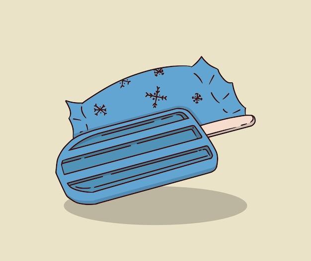 Blauw ijs en ijs wrap