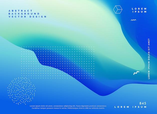 Blauw kleur verloop achtergrond posterontwerp