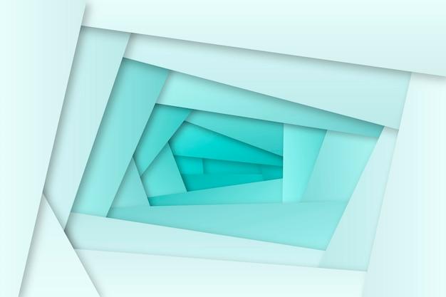 Blauw kleurverloop behang met geometrische vormen