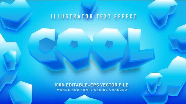 Blauw koel tekststijleffect omhoog