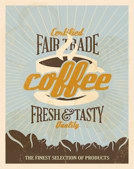 Blauw koffie poster