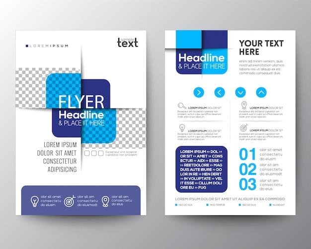 Blauw kruis grafisch element brochure omslag flyer poster ontwerp lay-out sjabloon