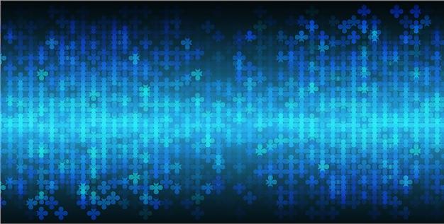 Blauw led-bioscoopscherm voor filmpresentatie. lichte abstracte technische achtergrond